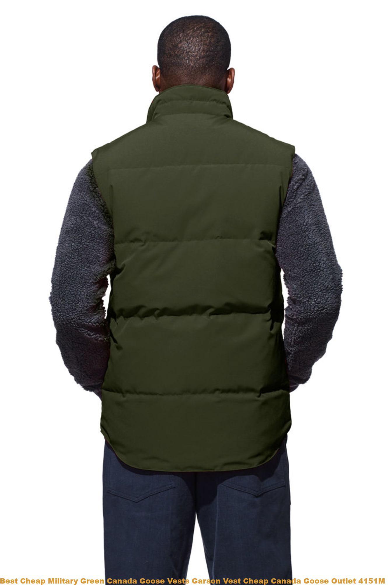 d8e936f4e Best Cheap Military Green Canada Goose Vests Garson Vest Cheap Canada Goose  Outlet 4151M