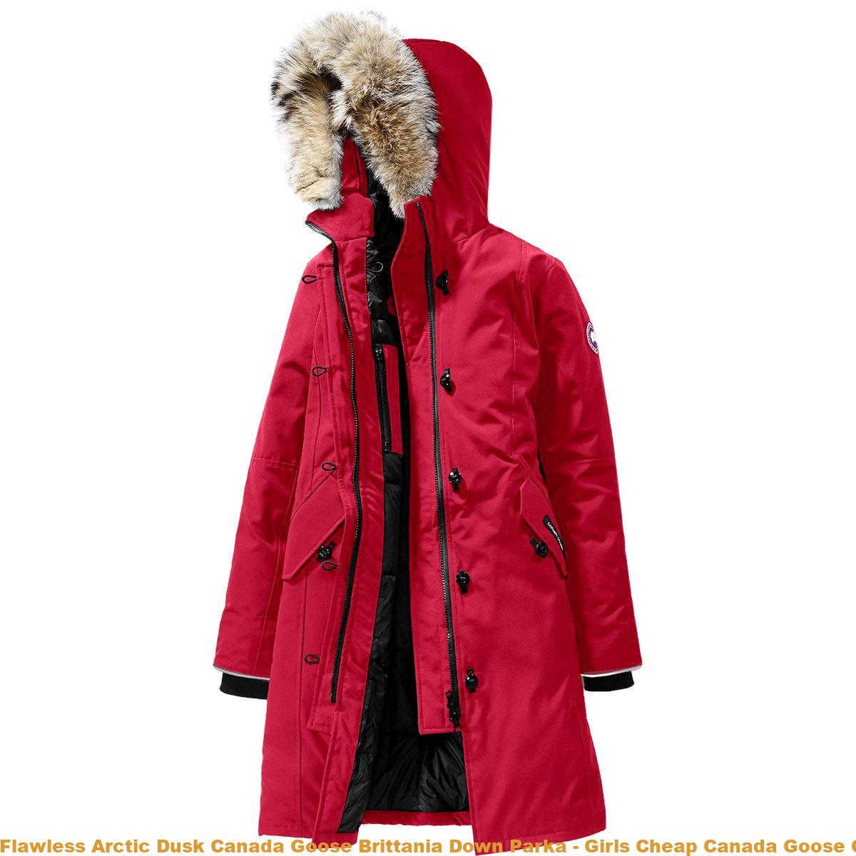 04adc4824 Flawless Arctic Dusk Canada Goose Brittania Down Parka - Girls Cheap Canada  Goose Coats Uk CDG3413