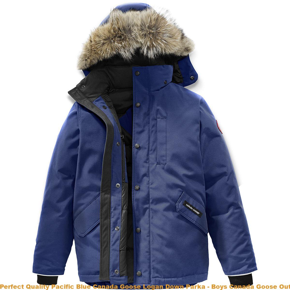 f67183c9057 Perfect Quality Pacific Blue Canada Goose Logan Down Parka - Boys Canada  Goose Outlet Orlando CDG3392